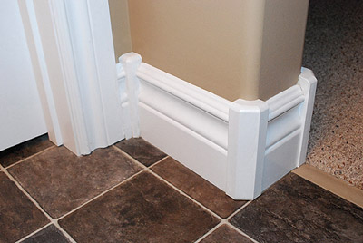 Decorative Wood Baseboard Corners